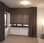 Римские шторы и деревянные жалюзи: обустройства интерьера